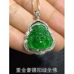 广东吊坠批发-挑选具有口碑的重金豪镶阳绿