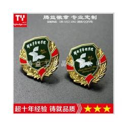 解放军艺术学校徽标-专业定制北京学校学生胸牌奖牌胸章