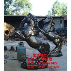 供应铜马雕塑厂家_来图加工_铜马雕塑