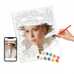画盏创意免装裱DIY数字油画带内框