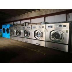 水洗厂二手100公斤全自动洗脱两用机二手烘干机二手烫平机