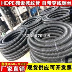 HDPE埋地用穿线波纹管 预埋CFRP碳素管螺纹电缆护套管