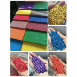 塑胶跑道材料  EPDM颗粒 硅PU 丙烯酸 人工草坪