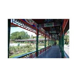 山东古建筑长廊建造-仿古木长廊设计